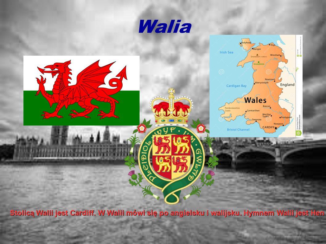 Walia Stolicą Walii jest Cardiff. W Walii mówi się po angielsku i walijsku. Hymnem Walii jest Hen Wlad Fy Nhadau (Stary kraj moich ojców).W kraju mies