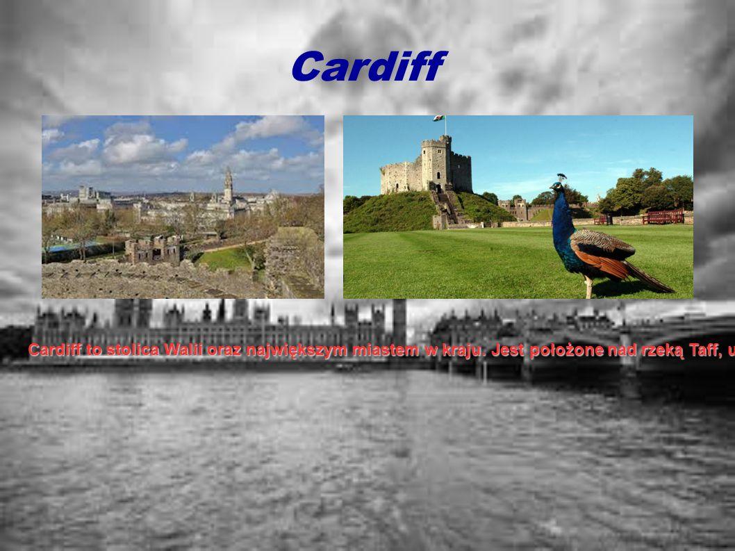 Cardiff Cardiff to stolica Walii oraz największym miastem w kraju. Jest położone nad rzeką Taff, u jej ujścia do Kanału Bristolskiego. W Cardiff jest