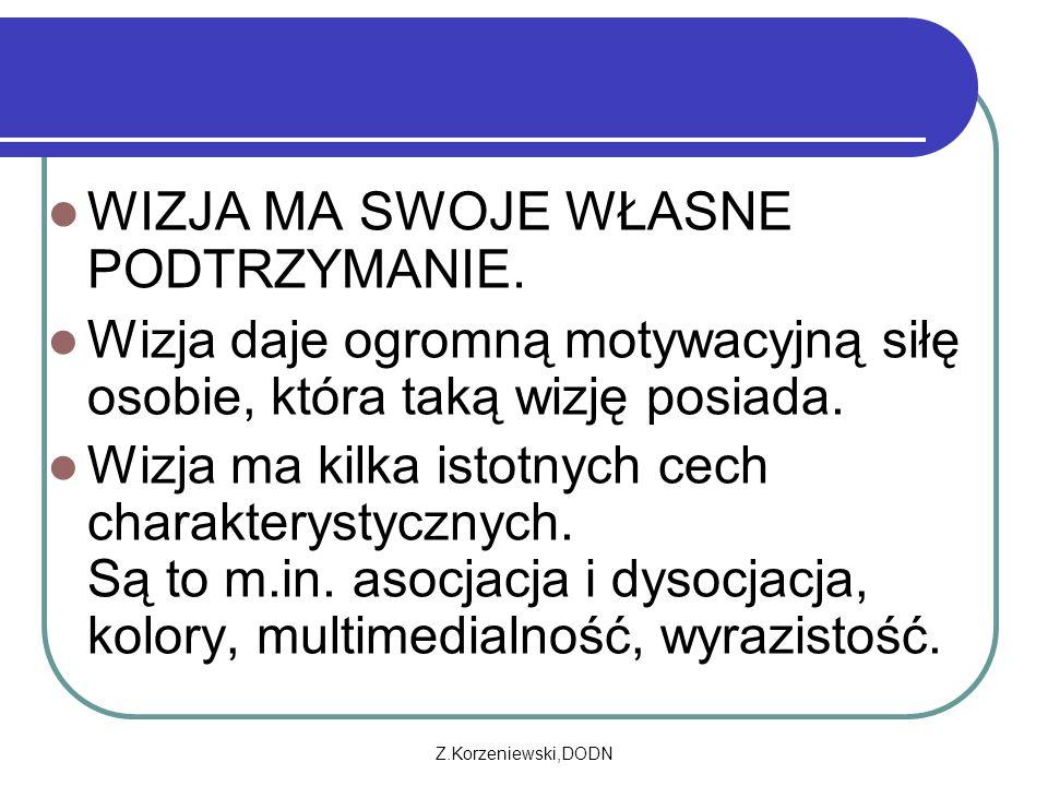 Z.Korzeniewski,DODN WIZJA MA SWOJE WŁASNE PODTRZYMANIE.