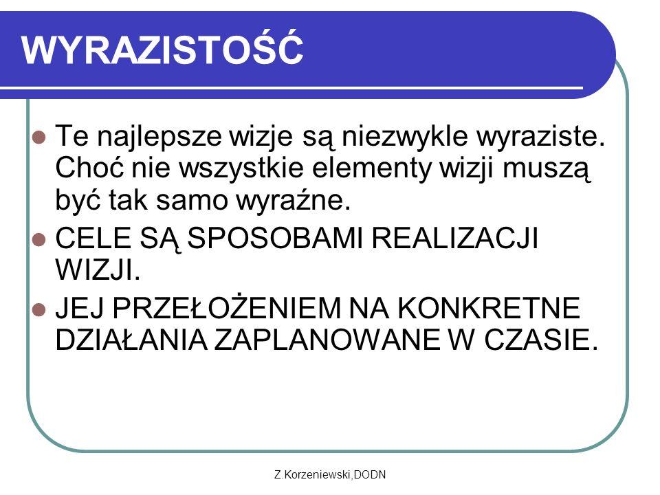 Z.Korzeniewski,DODN WYRAZISTOŚĆ Te najlepsze wizje są niezwykle wyraziste.
