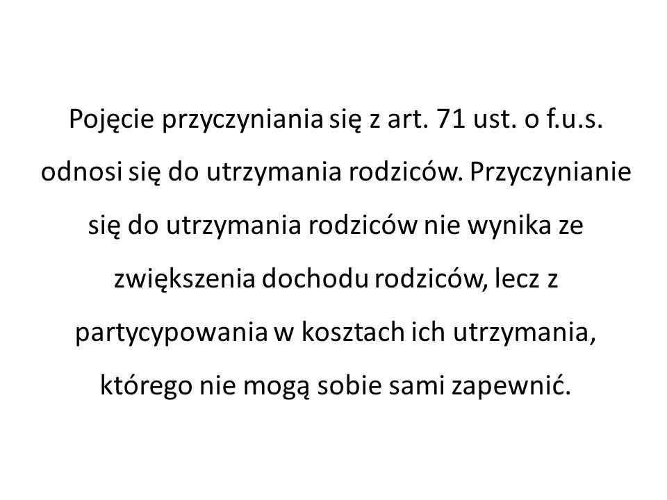 Pojęcie przyczyniania się z art. 71 ust. o f.u.s.