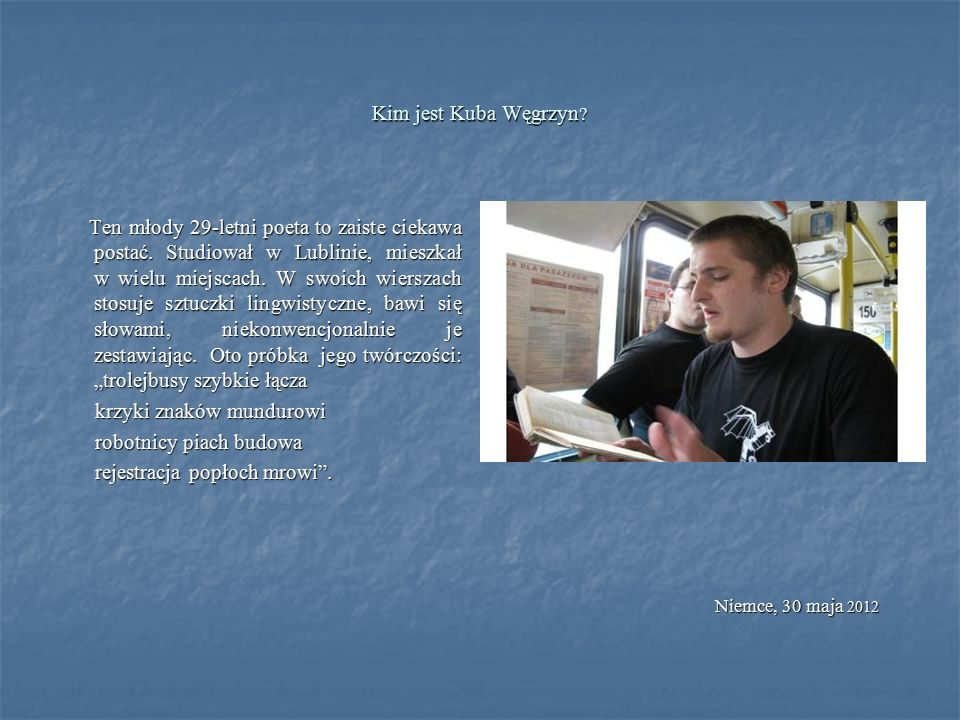 W lekcji współczesnej poezji uczestniczyli ci, którym bliżej niż dalej do książki, biblioteki, wiersza.