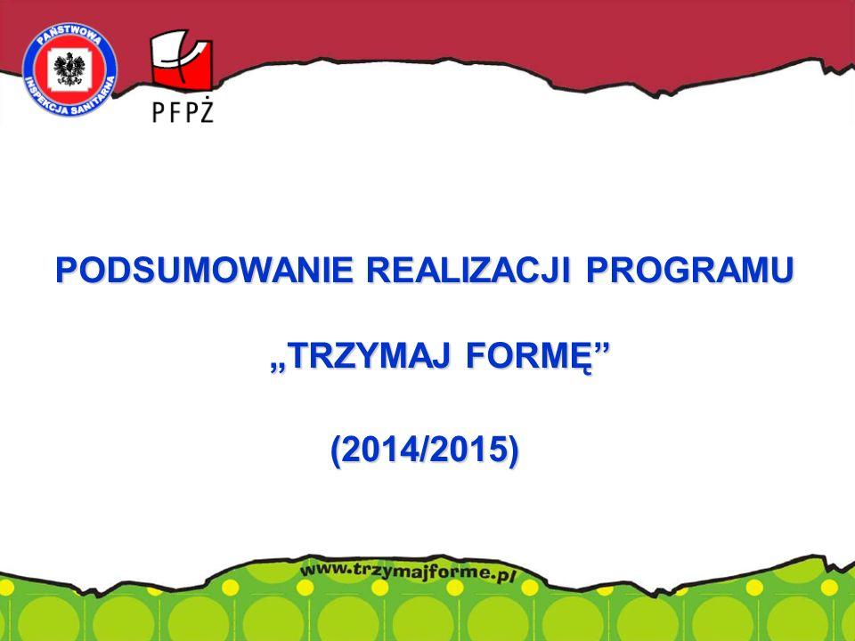 """PODSUMOWANIE REALIZACJI PROGRAMU """"TRZYMAJ FORMĘ (2014/2015)."""