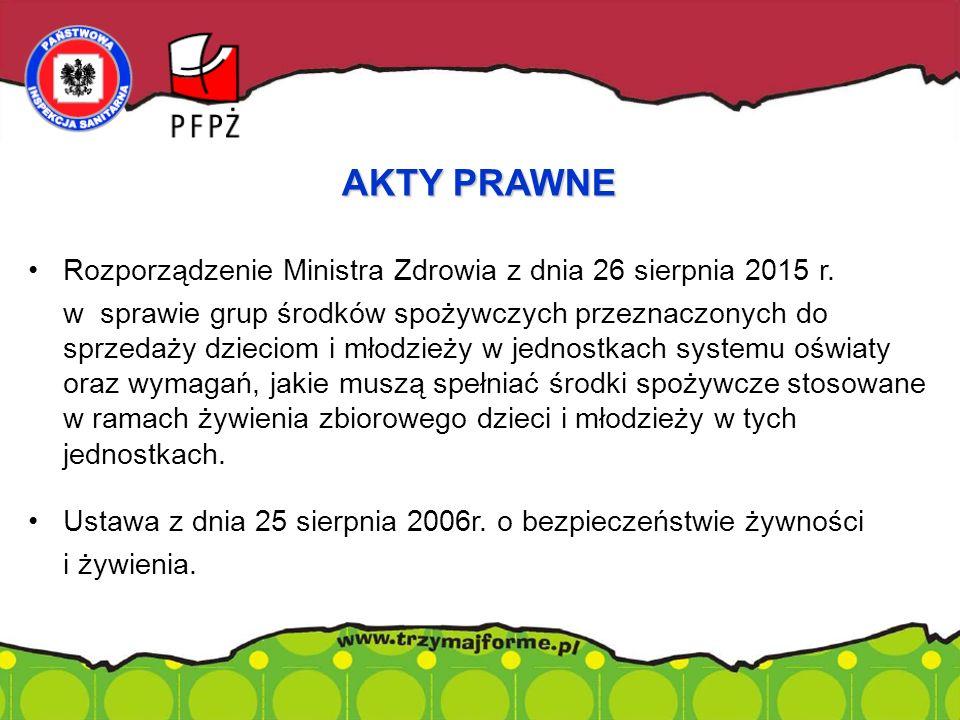 Rozporządzenie Ministra Zdrowia z dnia 26 sierpnia 2015 r.