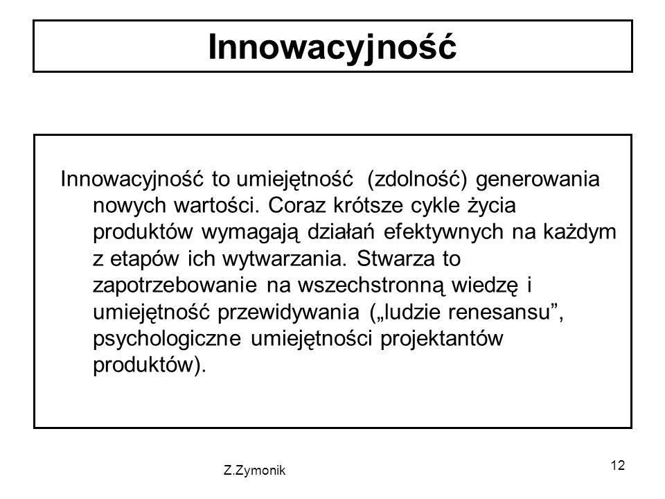 12 Innowacyjność to umiejętność (zdolność) generowania nowych wartości.