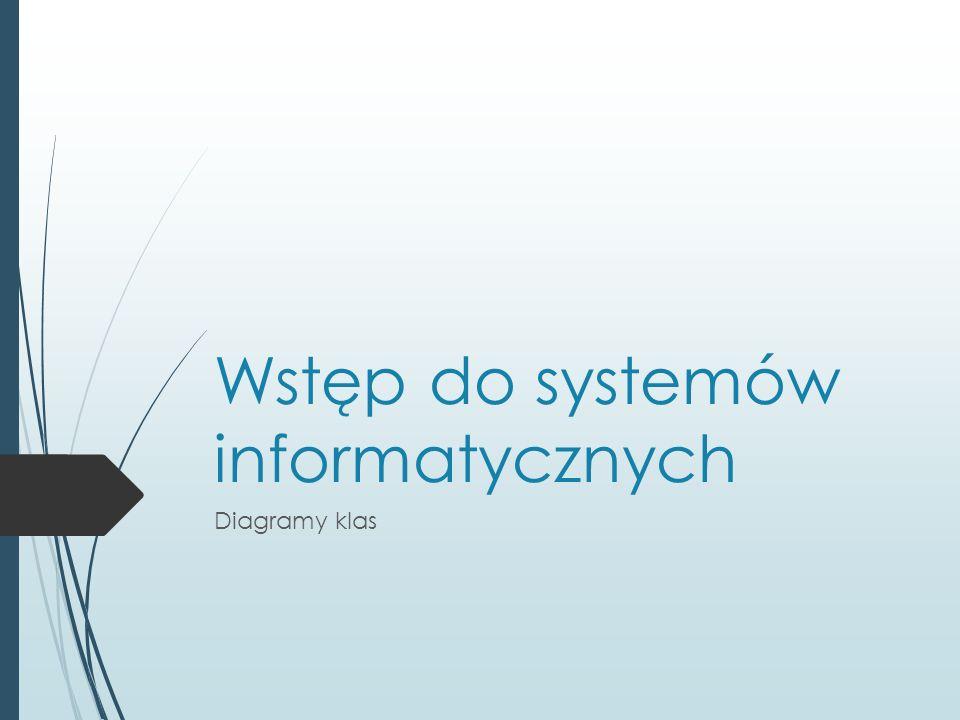 Wstęp do systemów informatycznych Diagramy klas
