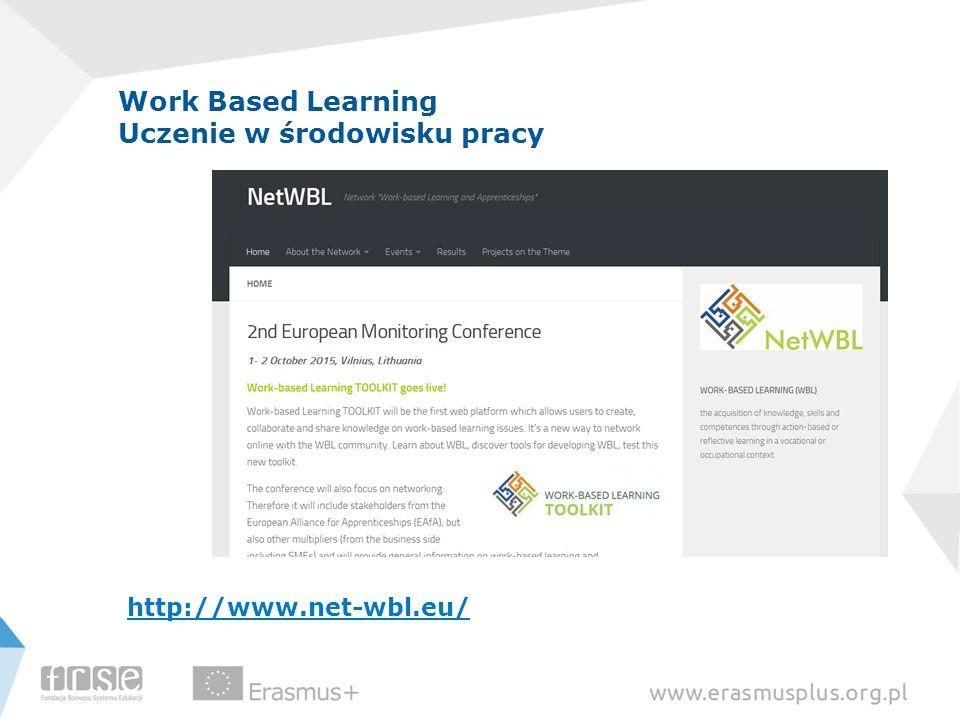Work Based Learning Uczenie w środowisku pracy http://www.net-wbl.eu/