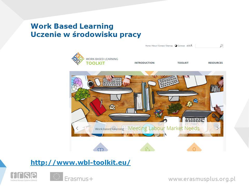 Work Based Learning Uczenie w środowisku pracy http://www.wbl-toolkit.eu/