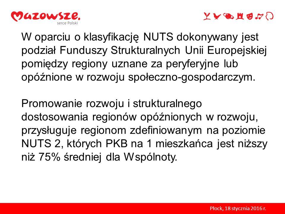W oparciu o klasyfikację NUTS dokonywany jest podział Funduszy Strukturalnych Unii Europejskiej pomiędzy regiony uznane za peryferyjne lub opóźnione w