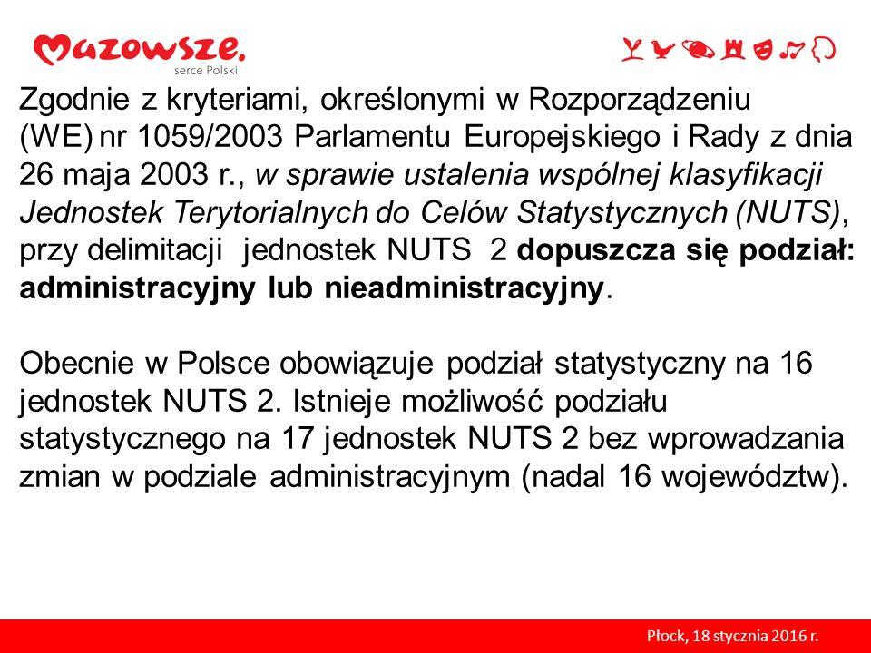 Zgodnie z kryteriami, określonymi w Rozporządzeniu (WE) nr 1059/2003 Parlamentu Europejskiego i Rady z dnia 26 maja 2003 r., w sprawie ustalenia wspól