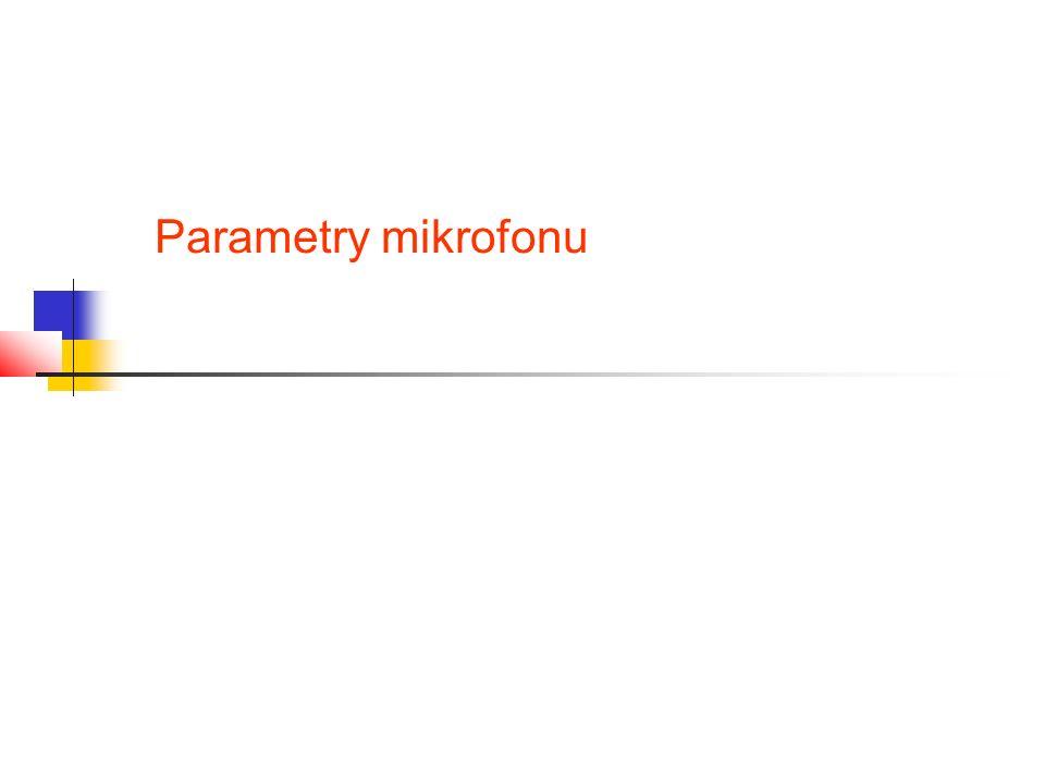 Parametry mikrofonu