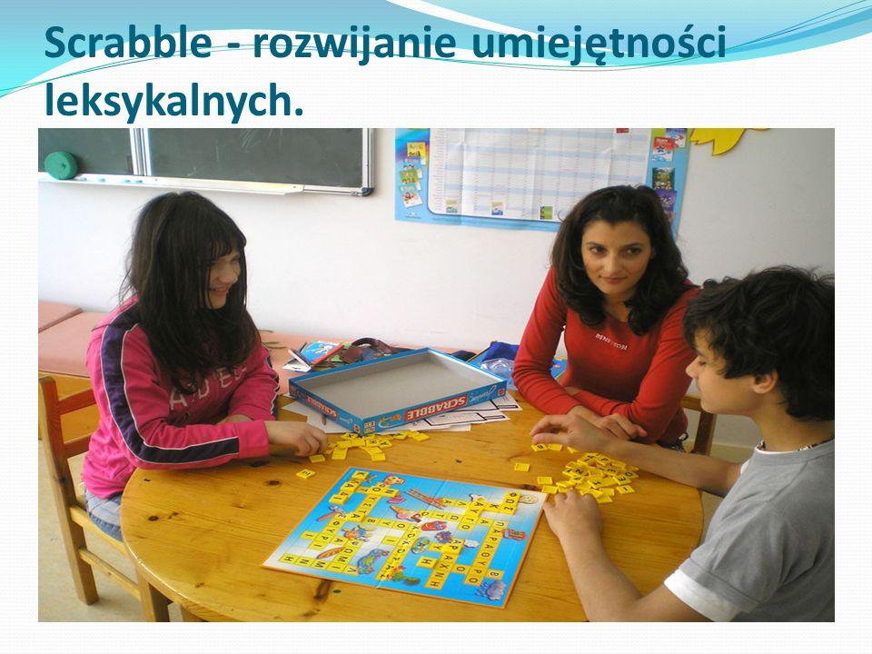 Scrabble - rozwijanie umiejętności leksykalnych.