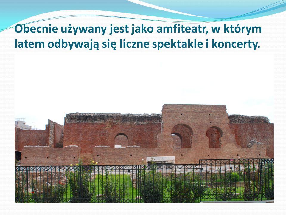 Obecnie używany jest jako amfiteatr, w którym latem odbywają się liczne spektakle i koncerty.