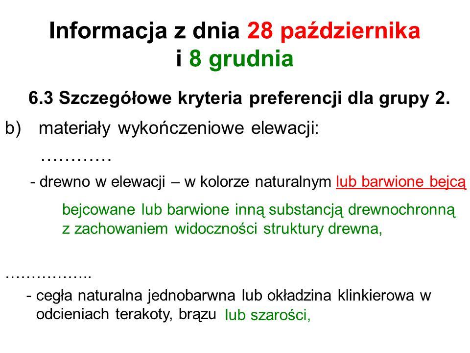 6.3 Szczegółowe kryteria preferencji dla grupy 2.