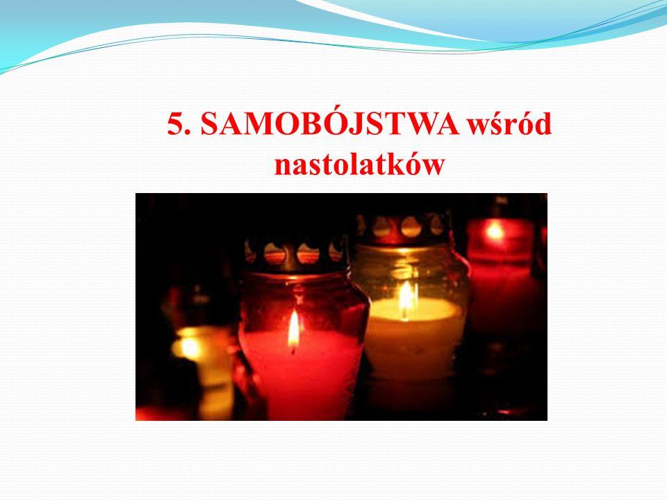5. SAMOBÓJSTWA wśród nastolatków