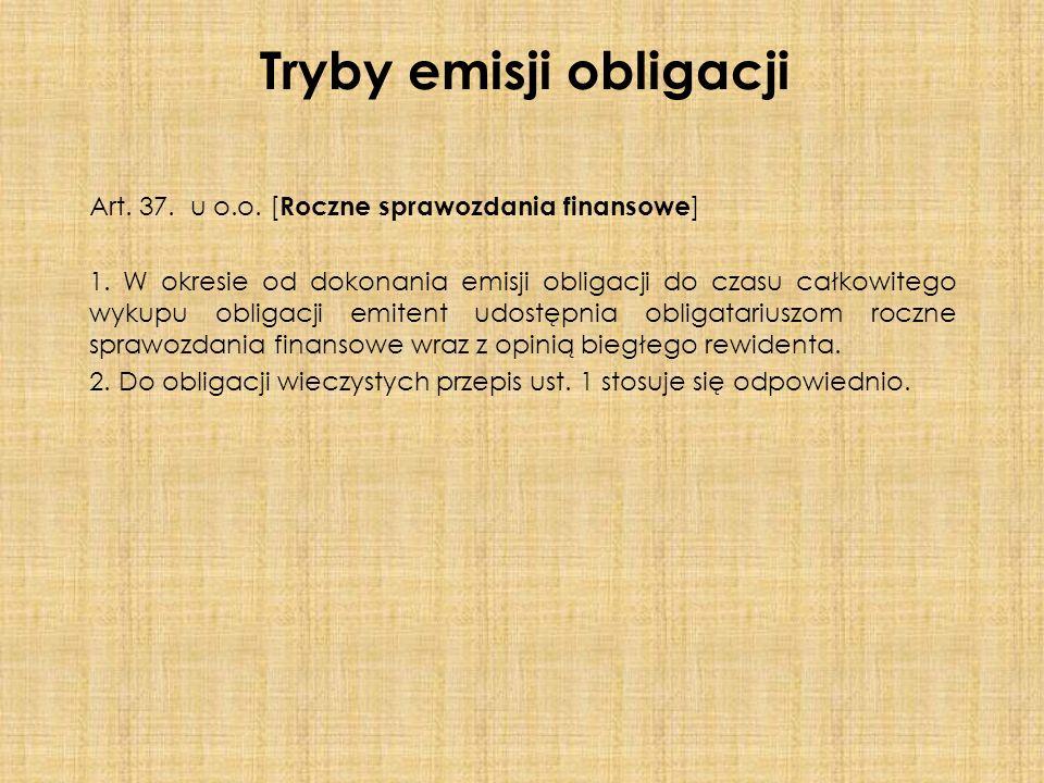 Art. 37. u o.o. [ Roczne sprawozdania finansowe ] 1.