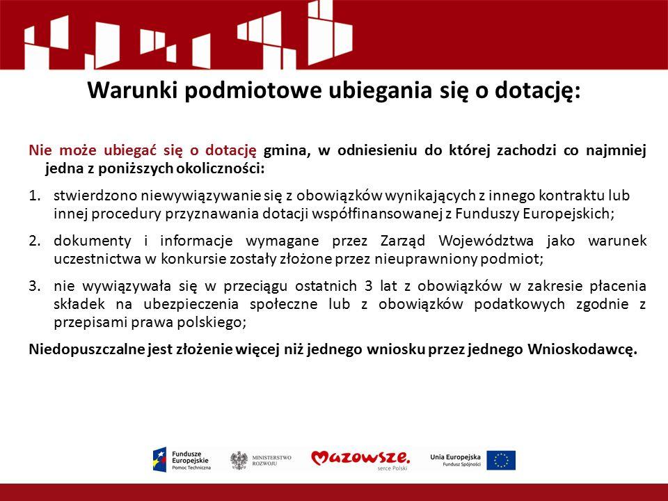 Wniosek o przyznanie dotacji Wniosku o przyznanie dotacji wraz z załącznikami należy złożyć osobiście, wysłać pocztą lub kurierem do dnia 29 stycznia 2016 r., na adres: Mazowiecka Jednostka Wdrażania Programów Unijnych, ul.