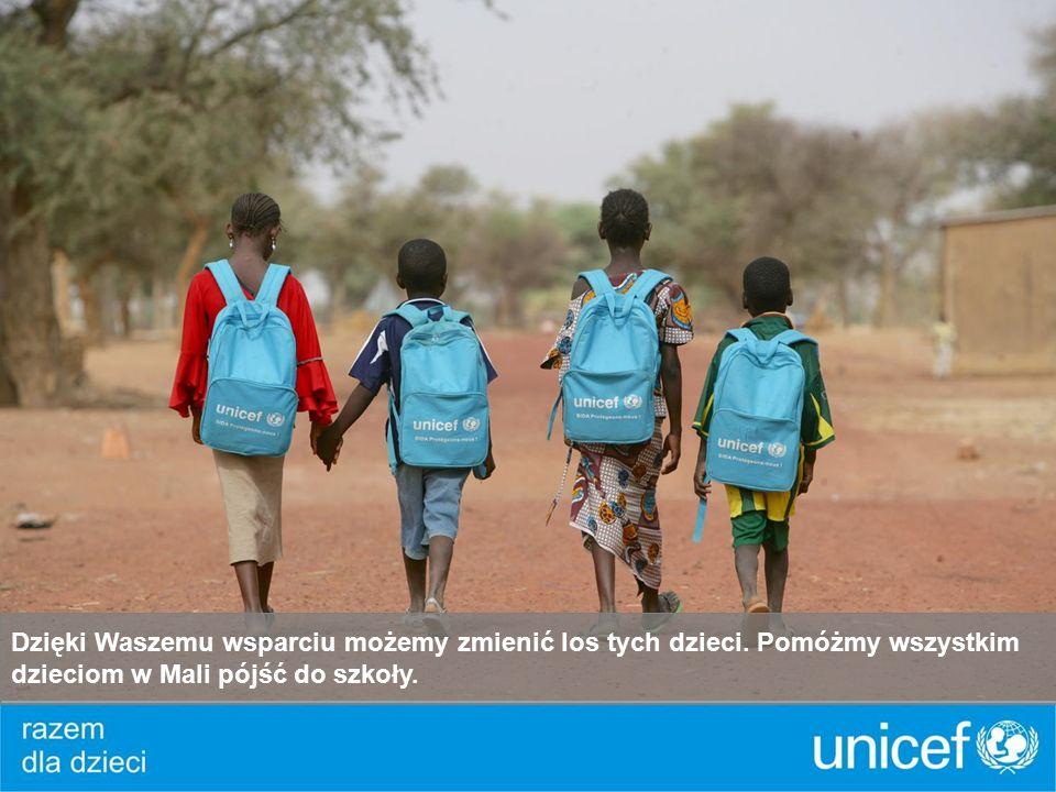 Dzięki Waszemu wsparciu możemy zmienić los tych dzieci. Pomóżmy wszystkim dzieciom w Mali pójść do szkoły.