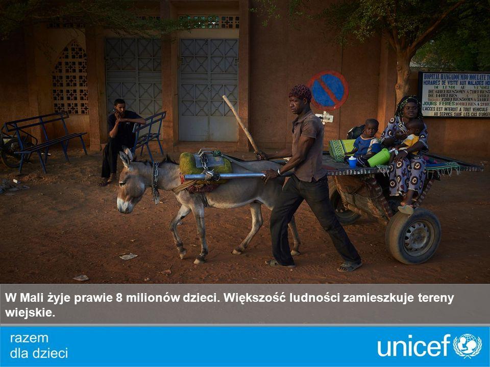 W Mali żyje prawie 8 milionów dzieci. Większość ludności zamieszkuje tereny wiejskie.