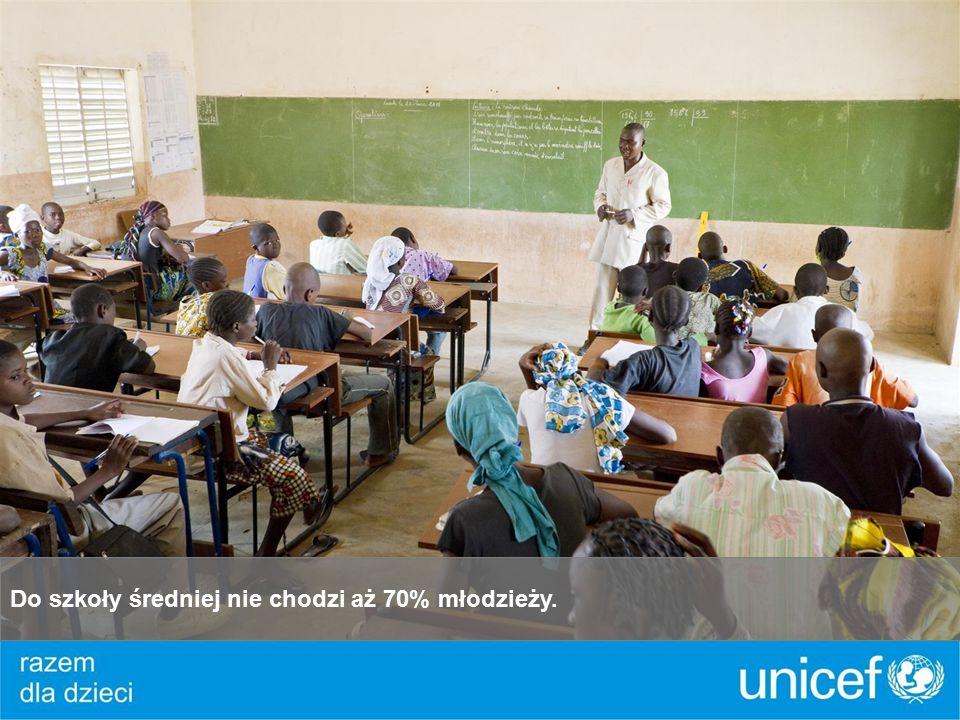 Do szkoły średniej nie chodzi aż 70% młodzieży.