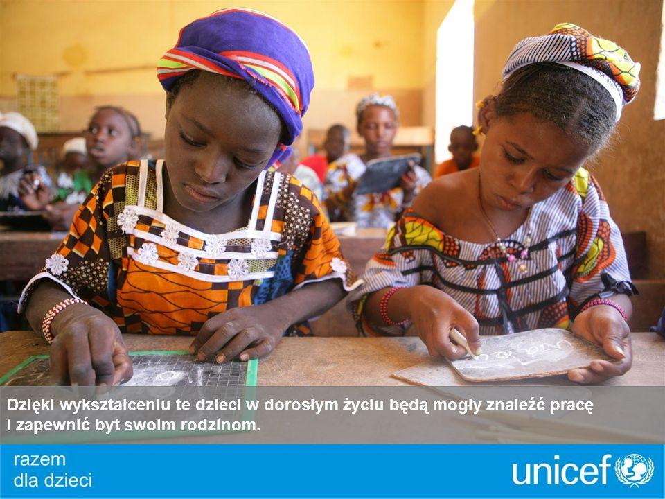 Dzięki wykształceniu te dzieci w dorosłym życiu będą mogły znaleźć pracę i zapewnić byt swoim rodzinom.