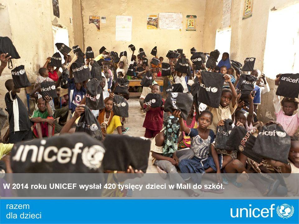 W 2014 roku UNICEF wysłał 420 tysięcy dzieci w Mali do szkół.