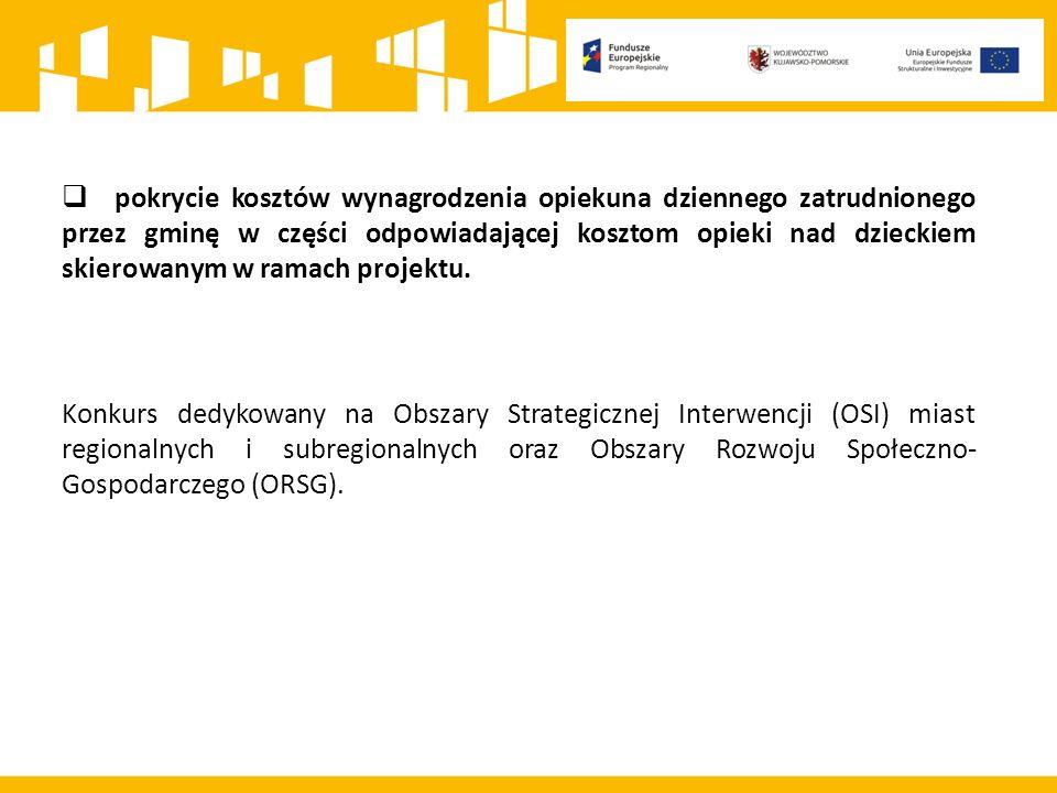 Informacje nt.obszarów, w których funkcjonowały w 2014 r.