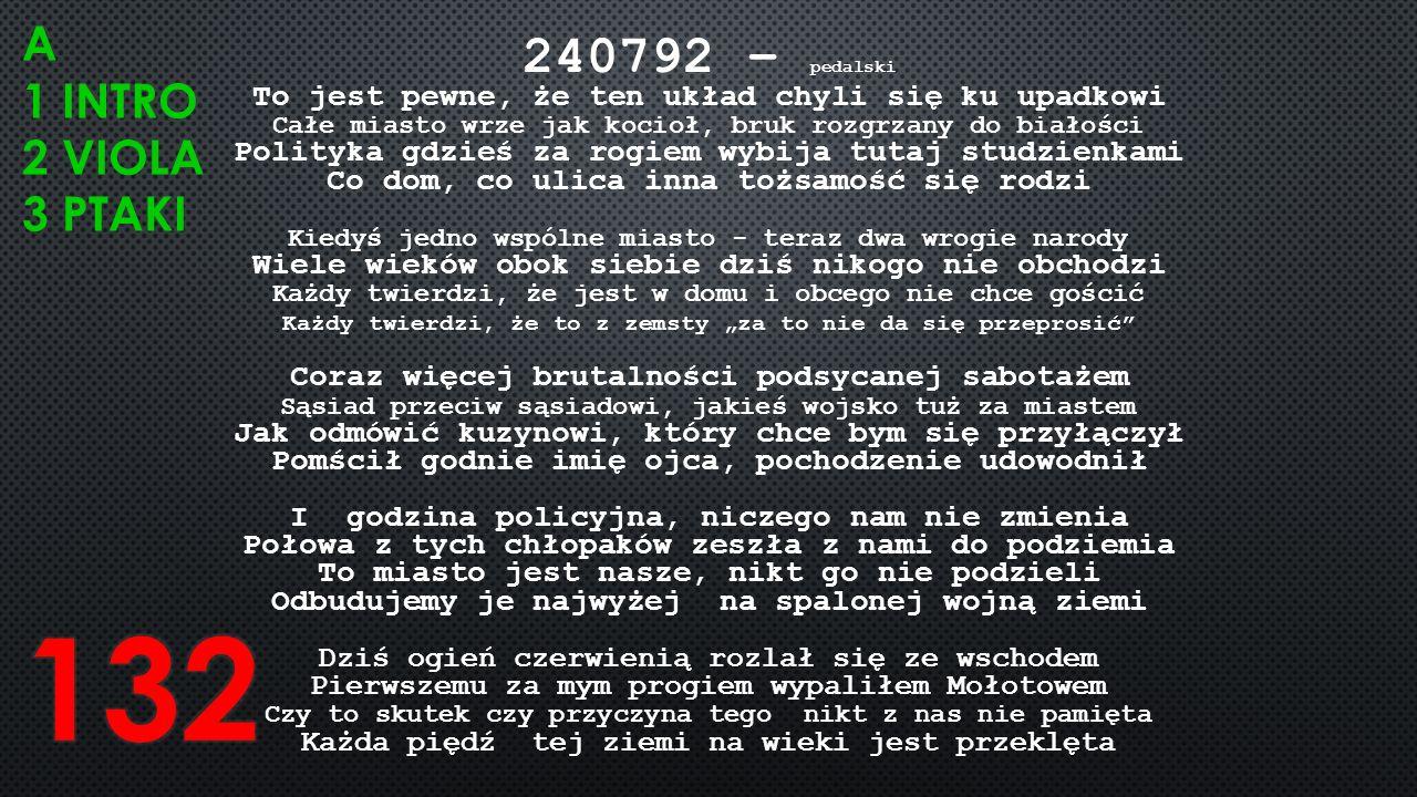 240792 – pedalski To jest pewne, że ten układ chyli się ku upadkowi Całe miasto wrze jak kocioł, bruk rozgrzany do białości Polityka gdzieś za rogiem