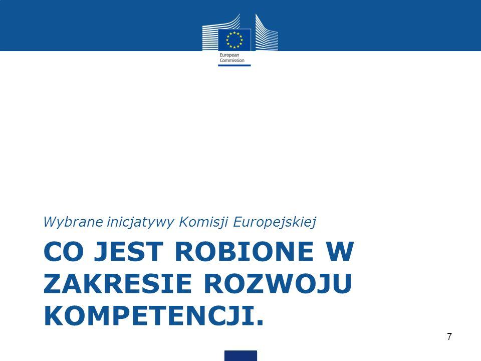 CO JEST ROBIONE W ZAKRESIE ROZWOJU KOMPETENCJI. Wybrane inicjatywy Komisji Europejskiej 7