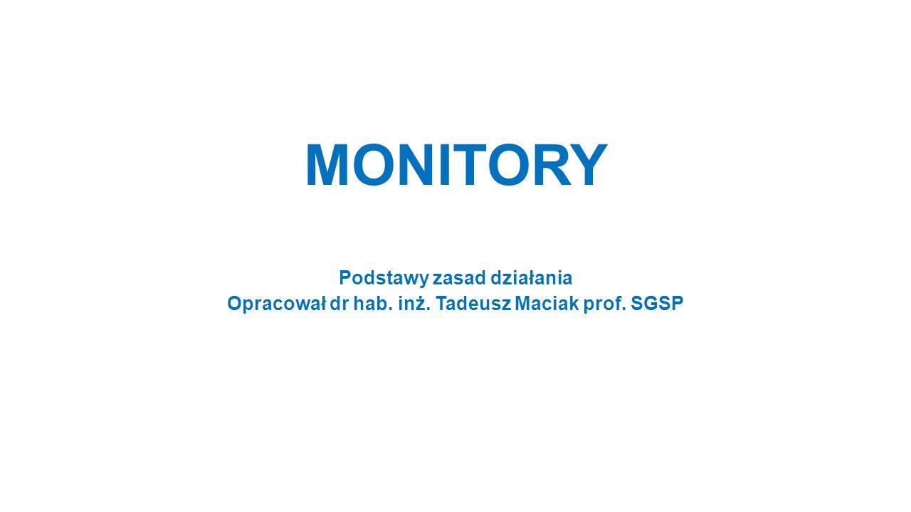 MONITORY Podstawy zasad działania Opracował dr hab. inż. Tadeusz Maciak prof. SGSP
