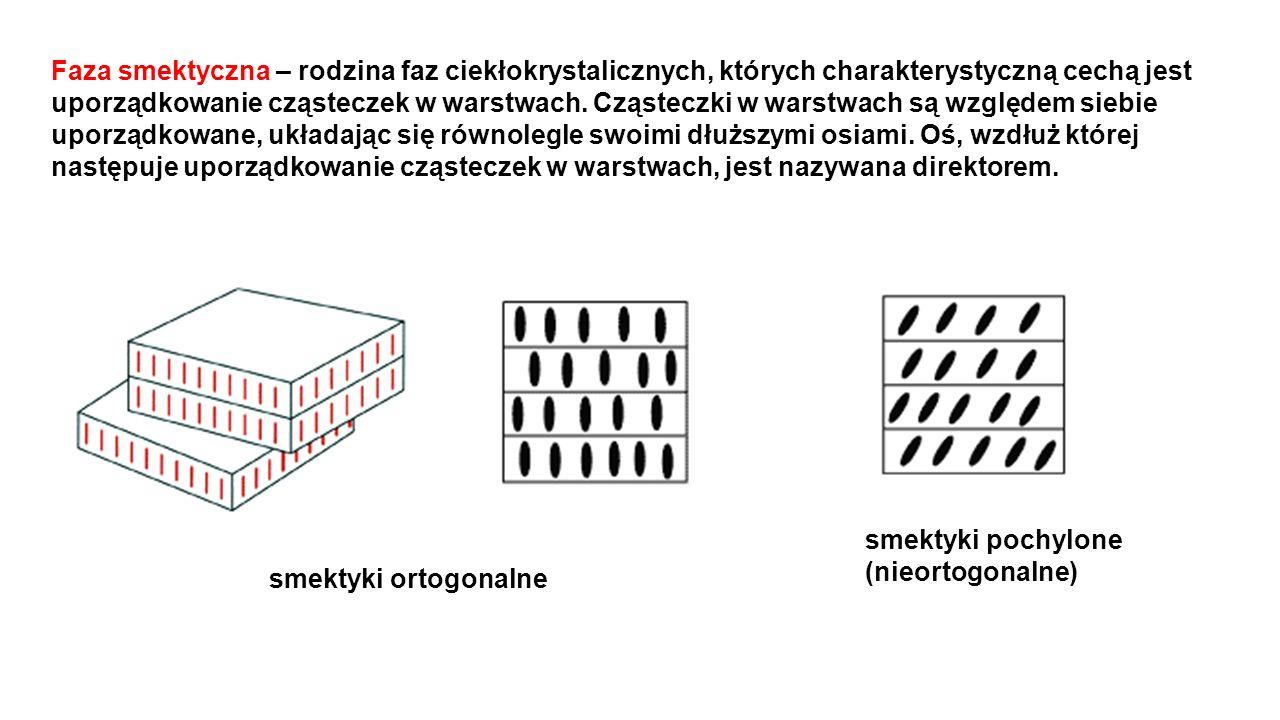 Faza smektyczna – rodzina faz ciekłokrystalicznych, których charakterystyczną cechą jest uporządkowanie cząsteczek w warstwach. Cząsteczki w warstwach