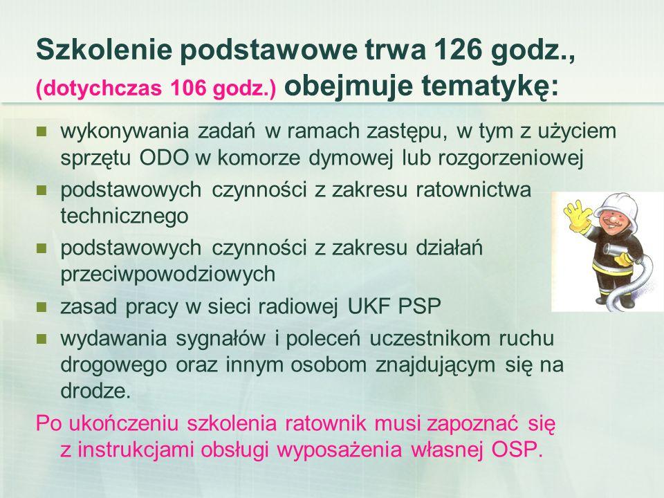 Szkolenie kierowców konserwatorów sprzętu OSP Trwa 28 godzin Wymagania ukończone szkolenie podstawowe wg programu z 2015 roku lub równorzędne z 2006 roku.