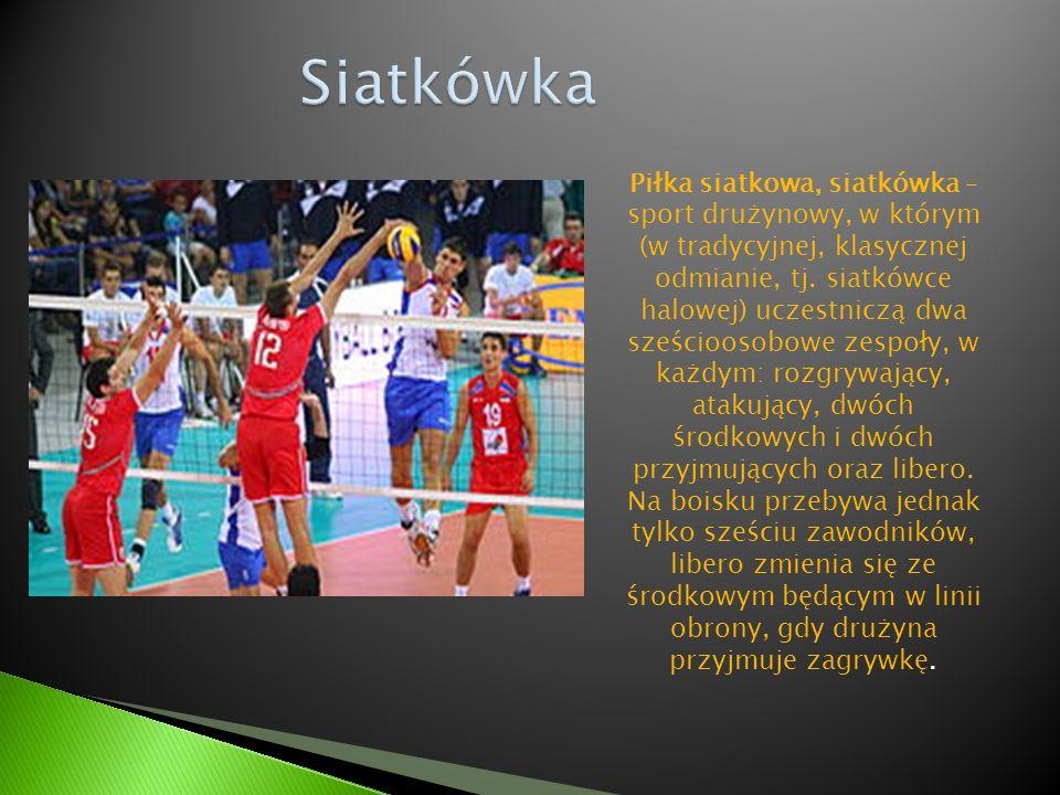 Piłka siatkowa, siatkówka – sport drużynowy, w którym (w tradycyjnej, klasycznej odmianie, tj. siatkówce halowej) uczestniczą dwa sześcioosobowe zespo