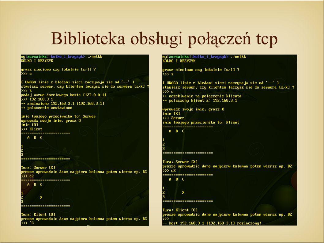 Biblioteka obsługi połączeń tcp