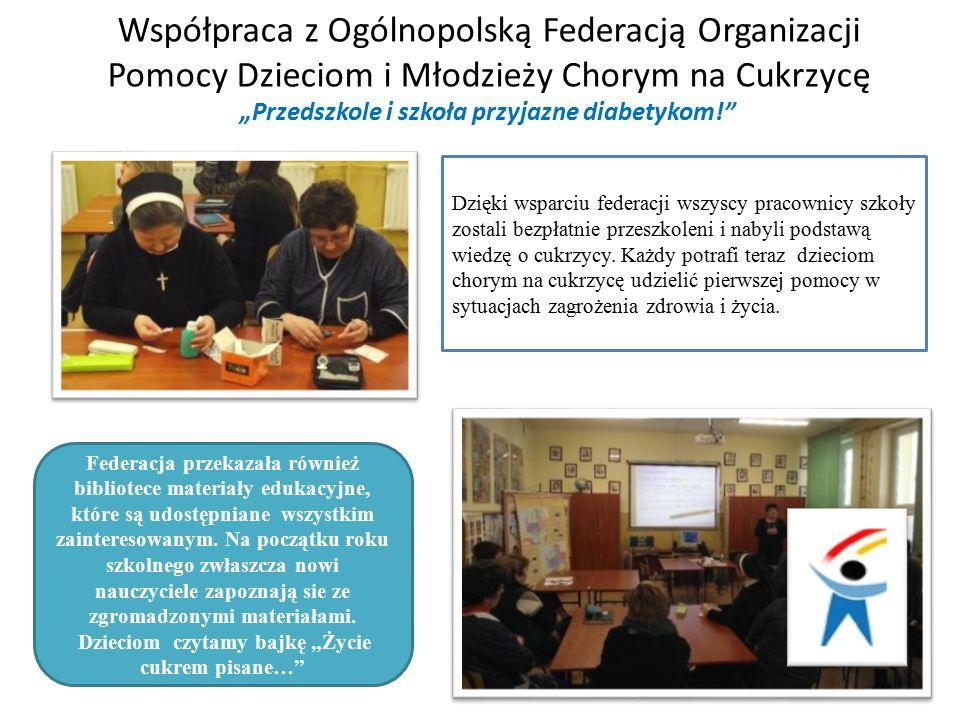 Federacja przekazała również bibliotece materiały edukacyjne, które są udostępniane wszystkim zainteresowanym.