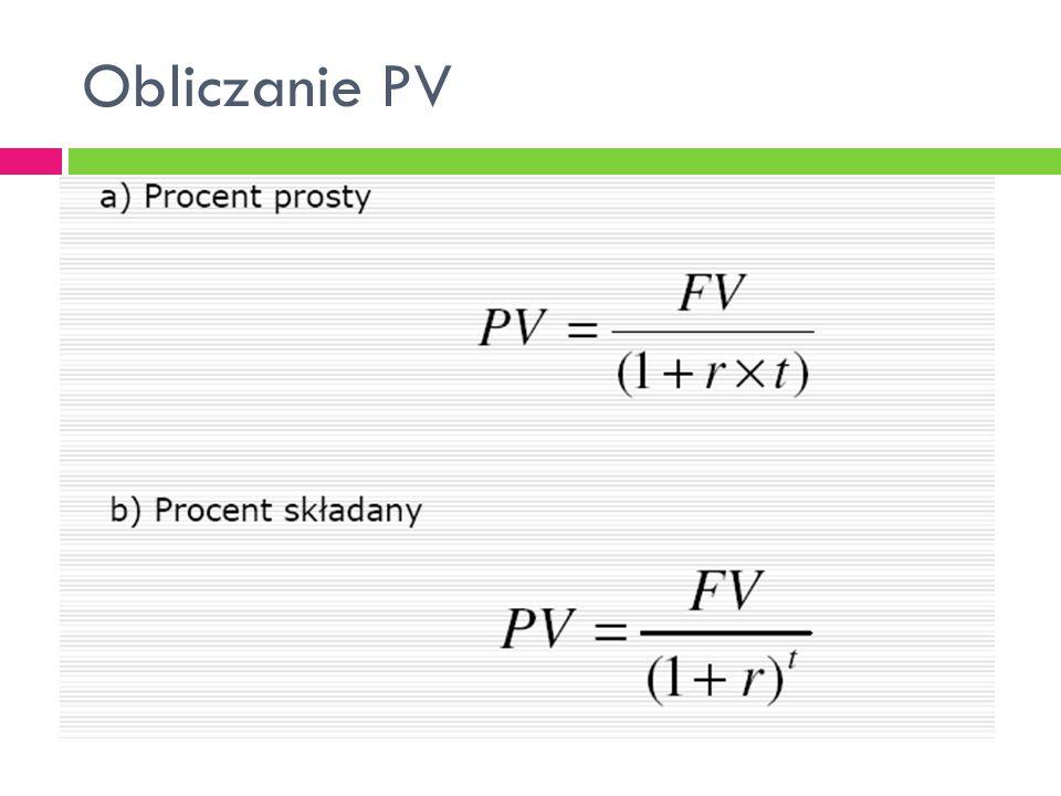 Obliczanie PV