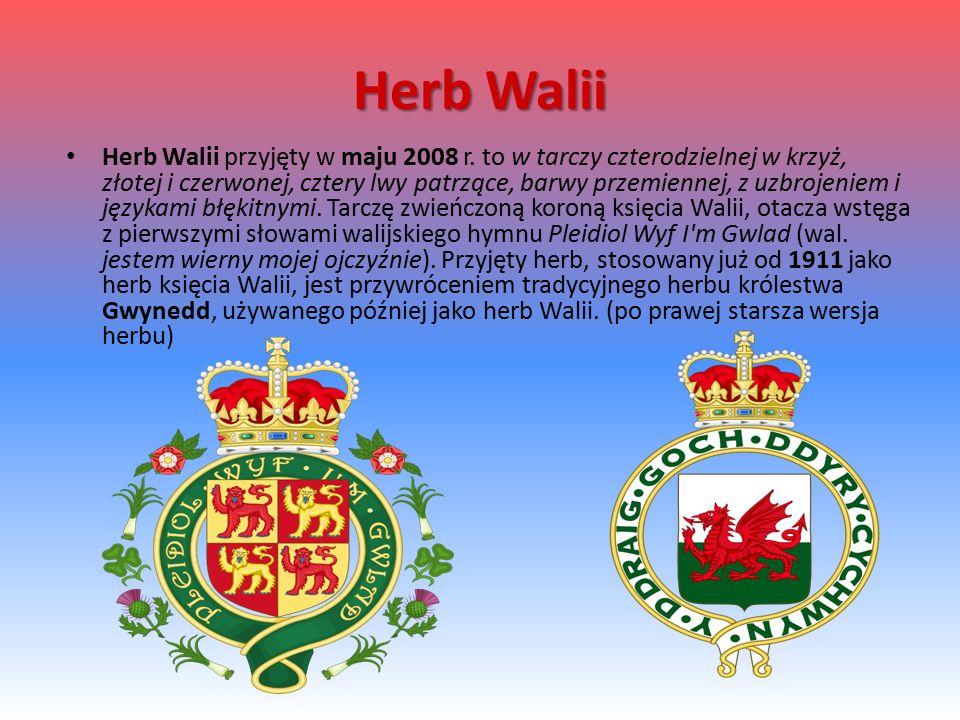 Herb Walii Herb Walii przyjęty w maju 2008 r.
