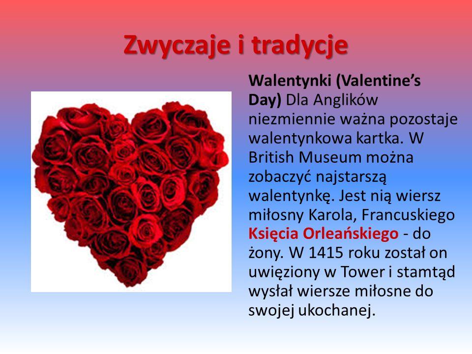 Walentynki (Valentine's Day) Dla Anglików niezmiennie ważna pozostaje walentynkowa kartka.