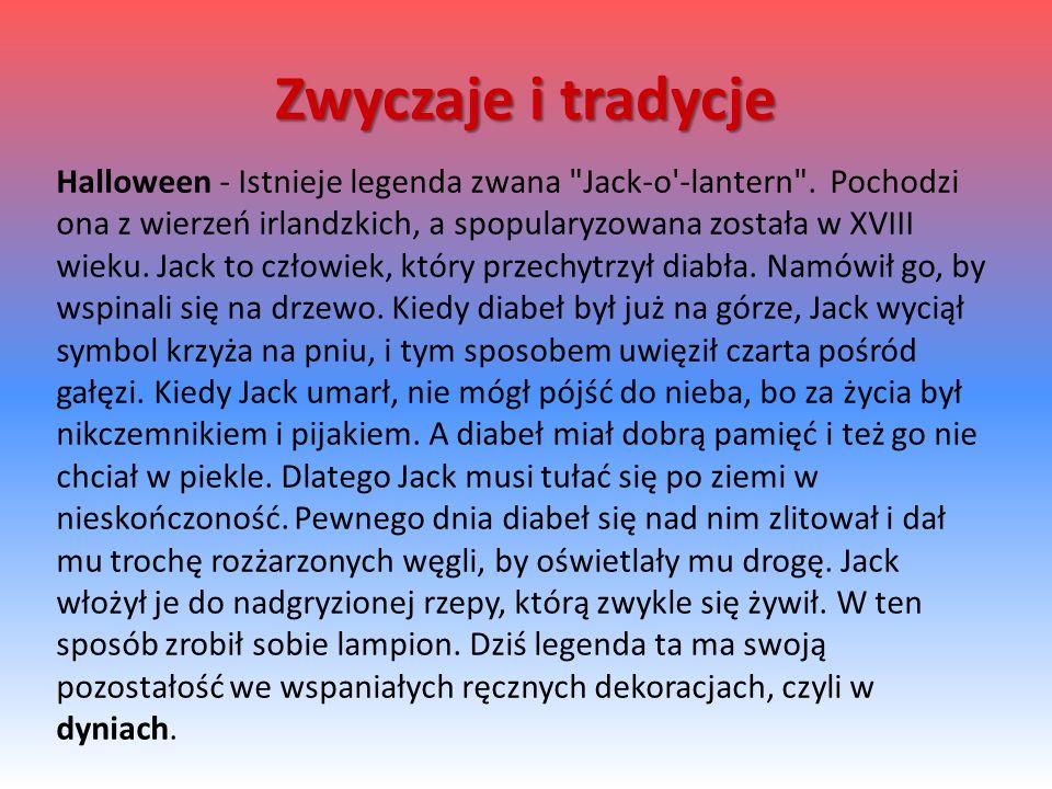 Halloween - Istnieje legenda zwana Jack-o -lantern .