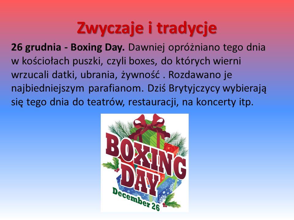 26 grudnia - Boxing Day.