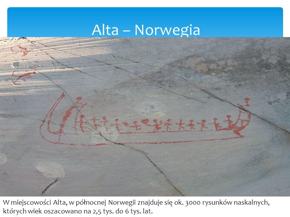 Alta – Norwegia W miejscowości Alta, w północnej Norwegii znajduje się ok.