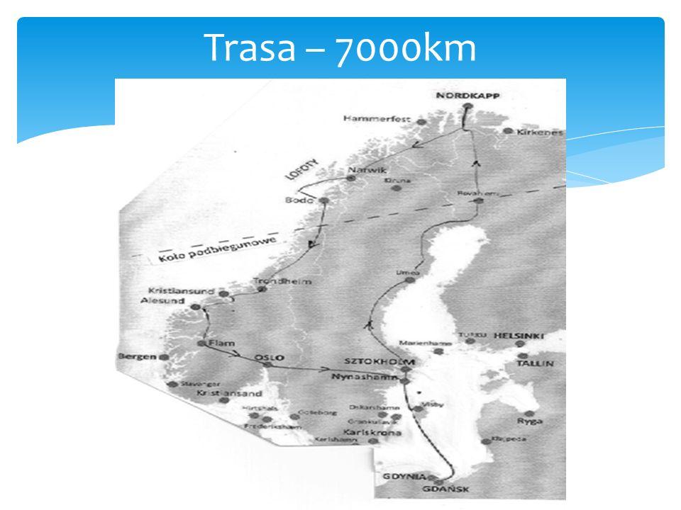 Trasa – 7000km