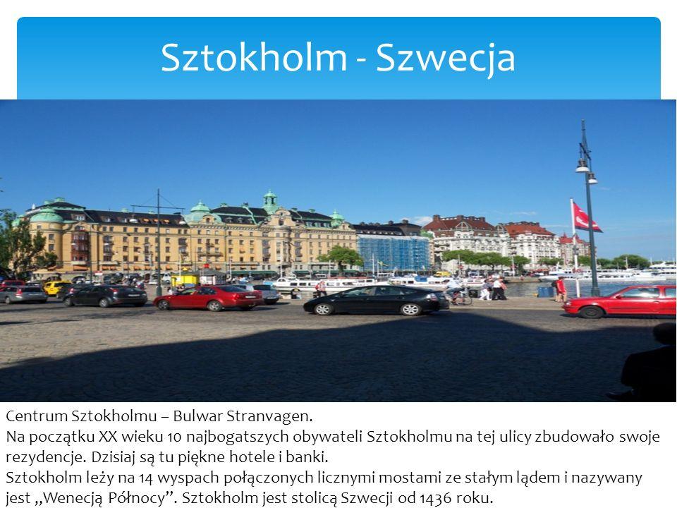 Sztokholm - Szwecja Centrum Sztokholmu – Bulwar Stranvagen.