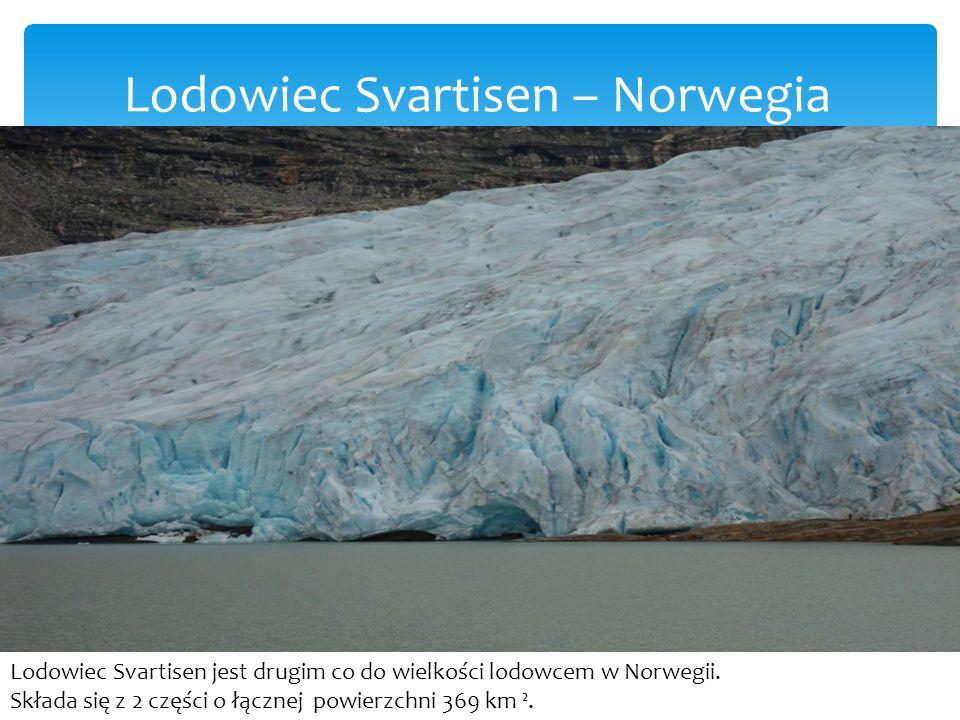 Lodowiec Svartisen – Norwegia Lodowiec Svartisen jest drugim co do wielkości lodowcem w Norwegii.
