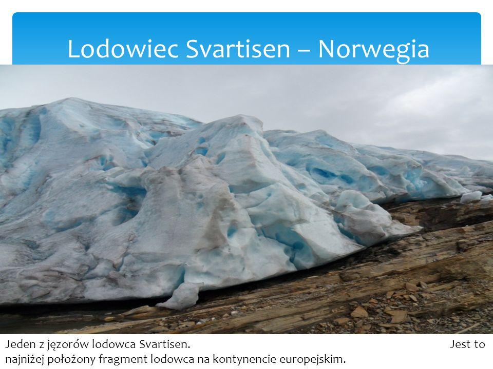 Lodowiec Svartisen – Norwegia Jeden z jęzorów lodowca Svartisen.