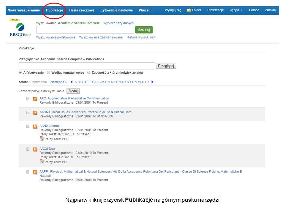 Wprowadź tytuł publikacji w polu Przeglądanie i kliknij Przeglądaj.