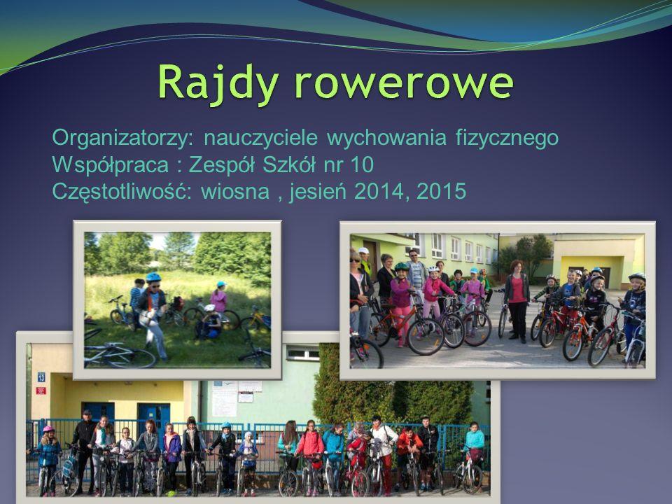 Organizatorzy: nauczyciele wychowania fizycznego Współpraca : Zespół Szkół nr 10 Częstotliwość: wiosna, jesień 2014, 2015
