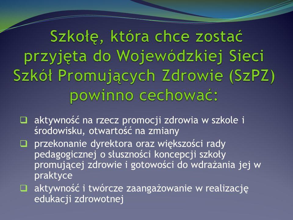 1.Wdrażanie uczniów do aktywności fizycznej 2.