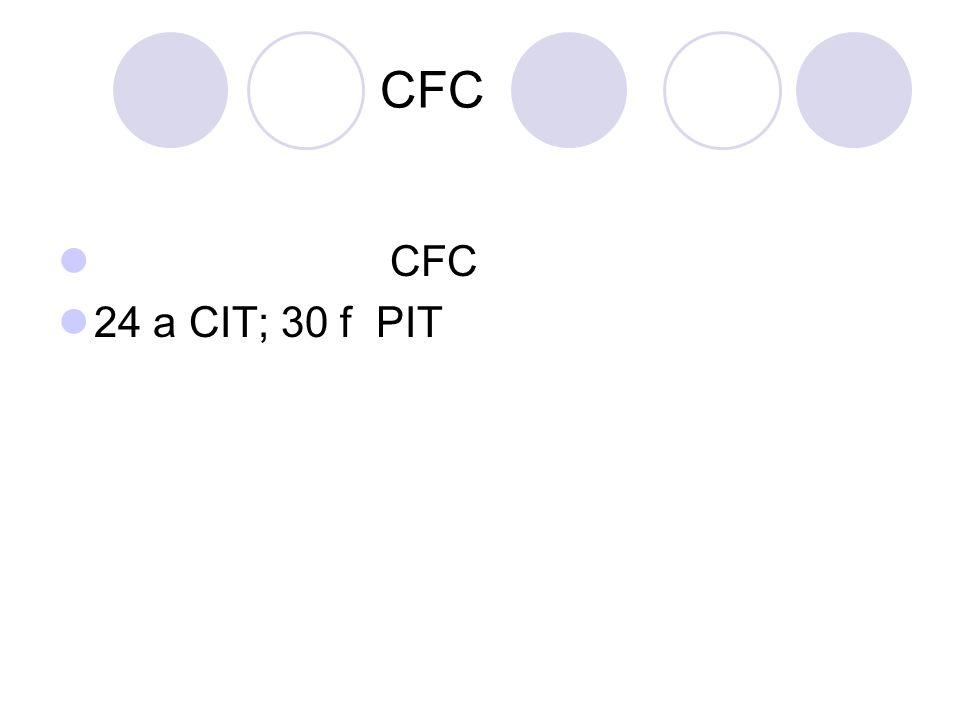 CFC 24 a CIT; 30 f PIT