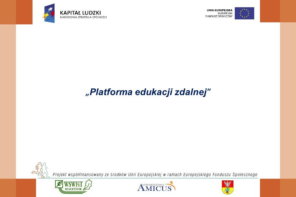 """ Platforma edukacji zdalnej"